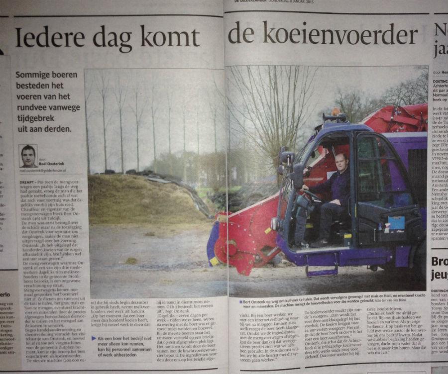 Artikel de Gelderlander Begeo krant